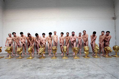 "vicemag:  The Great Porn Protest of Ai Weiwei's Internet Fans    Ha the old man on the far left is just like, ""cover up these jewels?  Hell no!"""