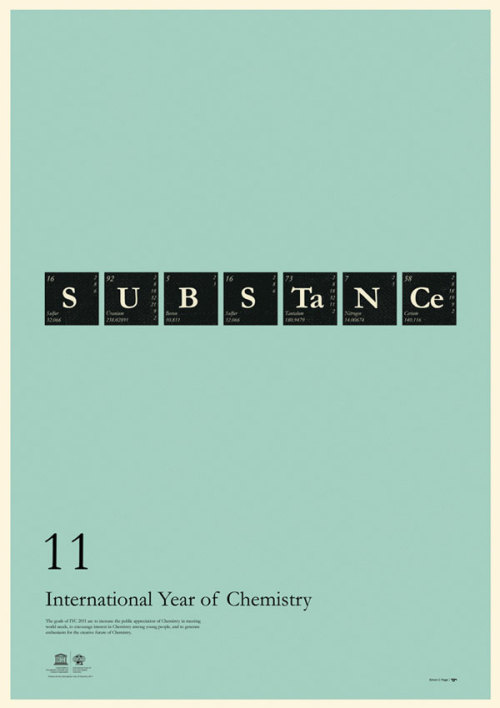 10 Posters Showing The Sweep And Grandeur Of Modern Science Simon C. Page's designs promoting the International Year of Chemistry are inspired by stories of intrepid researchers. [I may buy all 10 they are so good!]