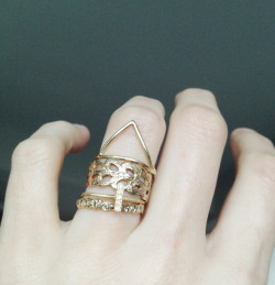 jennifer of odette ny wearing the most perfect set of stacked rings.