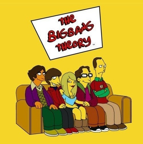 The Big Bang Theory estilo Simpsons.. ^^ o Howard ficou incrível! ihaiauhihaiu.. o/