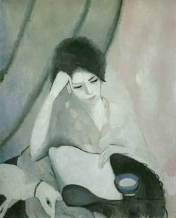 peira:  artemisdreaming: Marie Laurencin:  La liseuse (The Reader) 1913
