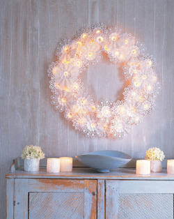 Martha Stewart paper doily wreath