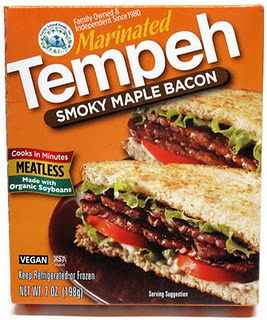 "Company: Tofurky Product: Smoky Maple Tempeh Bacon Verdict: 2/5For the longest time I've been craving a BLT. I'm talking, pile on the mayo, add a bunch of crunchy lettuce, and topped off with a thousand pieces of crispy soy bacon, BLT! The problem is, I haven't been able to find any vegetarian bacon products near me. That is until the hopeful day (or so I thought at the time) my local health food store brought in Smoky Maple Tempeh Bacon!  For $4.00 you get a decent amount of bacon strips, I'd say around 12 pieces altogether (however, they are quite small, approximately the length of your pointer finger). The directions say to fry the bacon strips in 2 tablespoons of cooking oil. So I did. I followed the directions to a T, cooking them until crispy. One thing that was bugging me while cooking them was that some of the strips were falling apart- they were quite thin, so flipping them became a chore.  But, because my stomach was grumbling and my craving for soy bacon was getting stronger, I carried on. I placed 3 pieces of the bacon on my sandwich. The first bite wasn't any more than decent. Just OK- nothing special, but it slightly curbed my craving. However, bite number two definitely gave me the true taste. I can honestly say, that these bacon strips were not meant for me. They were gritty, and un-like real bacon, dry. To me, they actually tasted like the grit at the bottom of the real, extra greasy, bacon pan. NOT what I was going for. And to top it all off, after eating my sandwich out of pure hunger anyways, I began to feel nauseous. I literally could not stand the smell, which by the way did NOT smell like delicious smoky maple, but more like 4-day old grease and grit.  All in all, not impressed at all. The reason it did receive a 2/5 was the fact it was at least vegetarian. However, I think it needs to take an extra step or two to receive the ""delicious"" label!  The Verdict  Pros Vegetarian/Vegan Cons Tasted like grit Super dry Crumbly  It did not taste like bacon- thus leaving me feeling nauseated and with an ever-growing craving for a BLT"