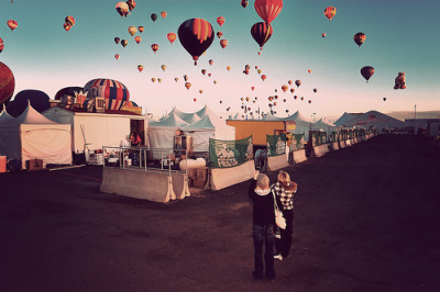 oceanflowerbird:  Back Alley at the Balloon Fiesta (by a4gpa)
