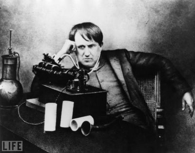 on today's date in 1877, thomas edison invented the phonograph. thanks, tom!