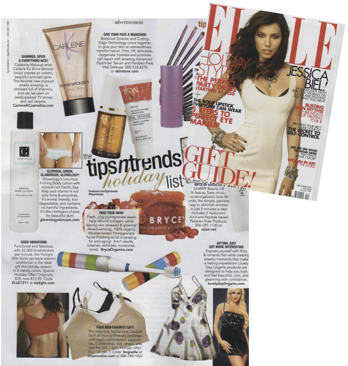 SO Excited! Carlene K SHINE BRONZER made the Holiday issue of ELLE magazine Tips & Trends Page! http://t.co/I40ENM8u