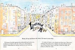 "astallaslions88:  The first pages of James Baldwin's children's book, ""Little Man Little Man."""