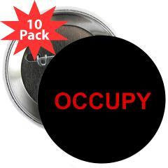 "Occupy Wall Street: 2.25"" Button (10 pack) Occupy Wall Street button that says OCCUPY. (viaOccupy Wall Street Shop)"