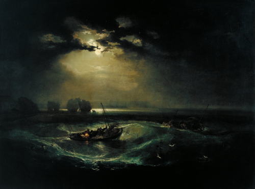 Fishermen at Sea (1796), oil on canvas | artwork by J. M. W. Turner
