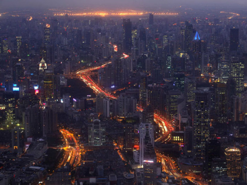 Image- China-Shanghai-View from the Shanghai world financial center in Shanghai, China