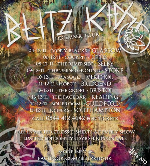Blitz Kids UK tour December 2011