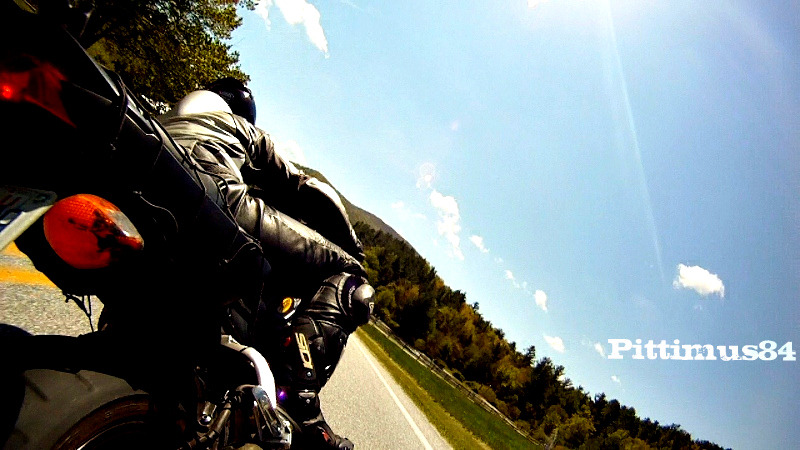 Motorcycle Riding in the Mountains