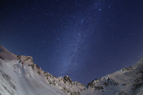 Alpen snow galaxy by masahiro miyasaka on Flickr.