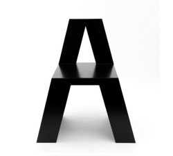 designcloud:  Alphabet Chair by Roeland Otten