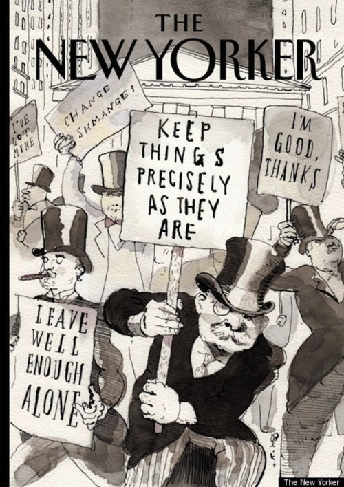 operationnikki:  The New Yorker mocking the 1% haha.