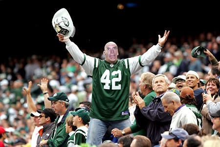 Stalltalk cheering on the Jets when his boy Favre was there.