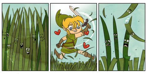:)) You can only blame the grass for hiding hearts, rupees, etc