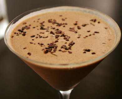 Chocolate MartiniLiquid dessert' best describes this lusciously creamy cocktail. It does triple duty as well- sans the alcohol it makes delicious chocolate milk or a cozy hot chocolate on those cold winter nights if heated.