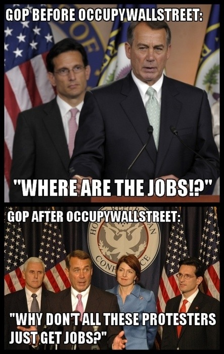 goodreasonnews:  six7six7:  GOP before and after OWS  But right!?