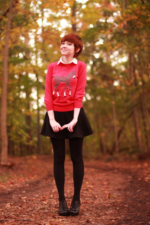 theclotheshorse:  ootd, even if the woods aren't clear  Gonna start dressing like this(: