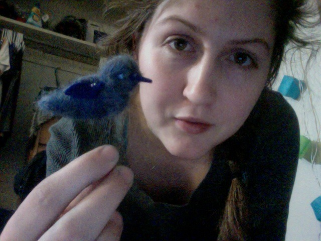 I felted a tiny bird for part of Ariel's and my Process and Ideation project! He is the cutest. Also we have just spent an hour painting sticks.
