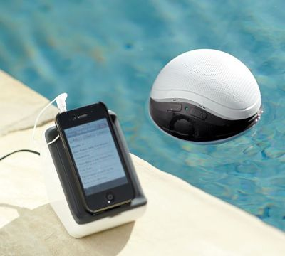 leetakeuchi:  Wireless floating waterproof speaker from Pottery Barn