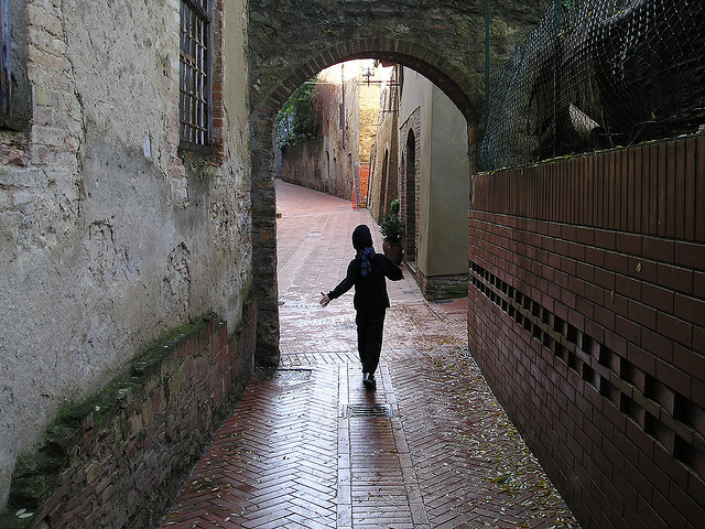 | ♕ |  Medieval passage to San Gimignano  | by © Roberto La Forgia | via ysvoice