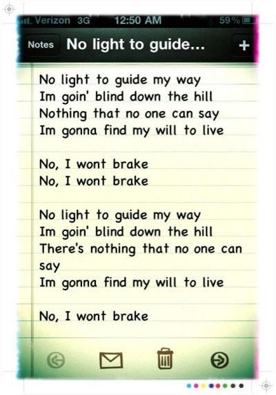 "cudlife:  ""Brake"" Lyrics Written By Scott Mescudi"
