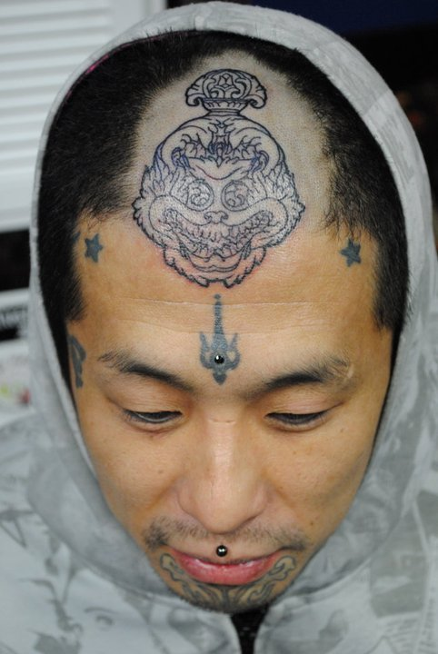 We street snapped this dude (a tattoo artist) in Harajuku recently. :-)