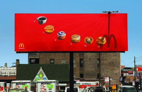 McDonalds billboard ad… I'm lovin it!  (Too corny or just right?)