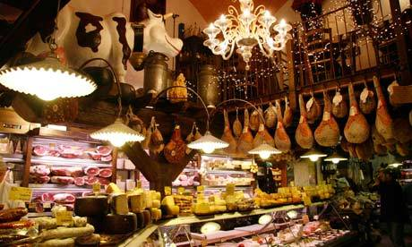 "nobordersdaily:  (via 10 best budget eats in Bologna | Travel | guardian.co.uk) Bologna is known as ""La Grassa"" (the Fat One), and this friendly city can stake a strong claim to being at the heart of Italian cuisine. This is the home of fresh pasta, the famous mortadella sausage, and nearby there are the finest producers of Parma ham, Parmigiano cheese, balsamic vinegar. There is no better place in Italy for eating out, and it really is almost impossible here to pay a lot of money for a meal."
