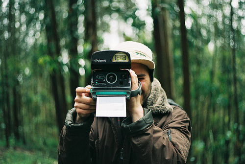 photojojo:  This is what it looks like when a Polaroid says cheese. Photo by Lauris Love; via createinme