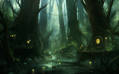 I want to live here. matanegra:  Swamp by *Blinck