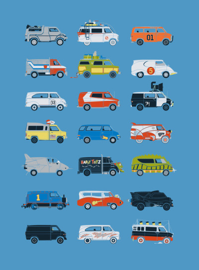 assorted-goodness:  It Would Have Been Cooler As A Van by Brandon Ortwein. Prints available here!  I wish Threadless would reprint the t-shirt version of this poster.