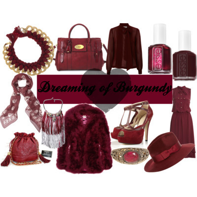 bemsybitch:  Burgundy, in my opinion, is this season's black. There are so many ways to wear it - accessories (TOPSHOP have just started stocking a gorgeous metallic skinny belt, it's on my wishlist!), skinny jeans, nail polish…the list is endless! The only important thing is, don't go out without your burgundy on!