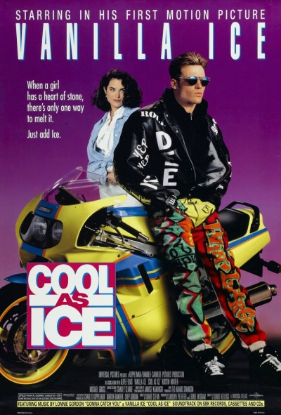 Vanilla Ice in his first motion picture ever. Coll as Ice, Yep Yep! This crapfest was made in 1991, kicking off the 1990s in an incredibly douchey fashion. And this movie is high on fashion, just check out what Ice is wearing.
