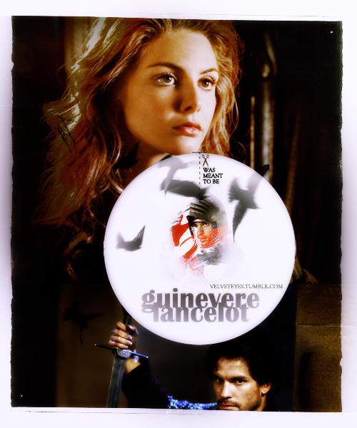 Was meant to be! Tamsin Egerton as Guinevere and Santiago Cabrera as Lancelot