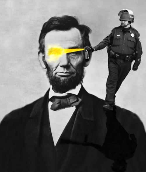 "PEPPER SPRAYING COP Vs. ABRAHAM LINCOLN - ""Emancipate this!""-""AUUUAHAGAHAGHHHHHHHHHHHHHHHHHHH""     [ i made this! :P ]"