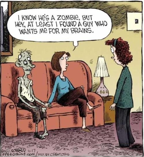 I know he's a zombie but… via M. Biron