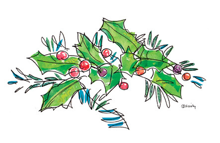 Deck the Halls (or at least the Christmas cards) with boughs of holly. Happy Holidays everyone!