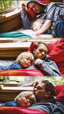 swellss:  lafetowalneylor  Patrick J Adams with Gabriel's daughter Satine