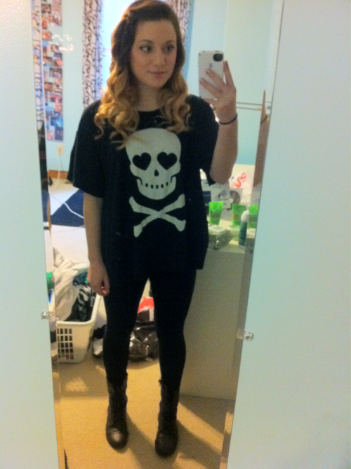 Top - wildfox Leggings - BP Boots - Steve Madden