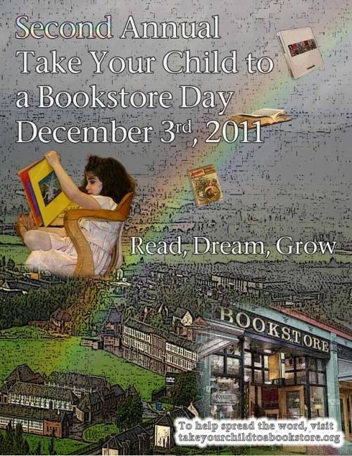 "December 3rd is Take Your Child to a Bookstore Day! Here at I Heart Classics, we believe this is the most important holiday of the year. If you don't have kids, just take yourself and your ""inner child"" to the bookstore. Hey, it counts! To learn more about the holiday, visit the TYCtaBD website!"