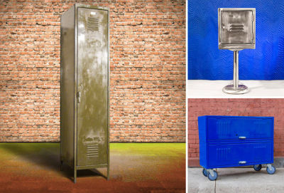 Furnish your pad with vintage school lockers