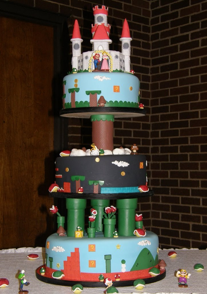 Mario Wedding Cake - by bridetide