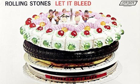 Rolling Stones' Let It Bleed cover artwork up for sale Artwork for one of the most famous album covers – the Rolling Stones' Let It Bleed – is expected to fetch up to £40,000 at auction next month.Keith Richards commissioned his friend, the graphic designer Robert Brownjohn, to create the sleeve images for the 1969 album.The front cover features a surreal sculpture created by Brownjohn comprising the Let It Bleed LP apparently being played with an old-style record arm. Stacked above the record on an automatic changer spindle are a dinner plate, a tape or film reel canister, a clock face, a pizza and a tyre. (via guardian.co.uk)