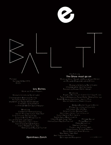 "hxg:  I love this ""BALLETT"" poster by Ruedi Rüegg"
