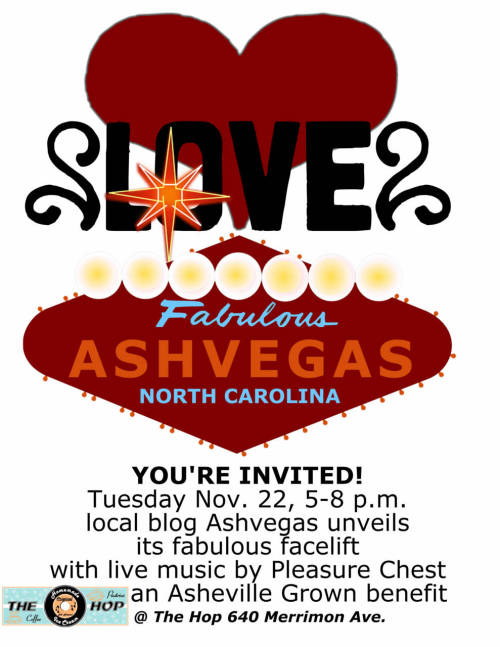 Tonight! 5-8pm!!! http://ashvegas.com Launch + http://ashevillegrown.com Fundraiser + Pleasure Chest show + Brand New Ice Cream Flavor!!!