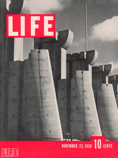 life:  LIFE's very first cover featured this heroic Margaret Bourke-White  photograph of Montana's Fort Peck Dam.  Across seven decades, LIFE's 2,000-plus covers not only captured pivotal  people and momentous events, but again and again defined and even, in  some cases, helped shape the times.  Here, on the 75th anniversary of the  magazine's debut, LIFE.com presents, in chronological order, the 75  most moving, most striking, most beautiful LIFE covers of all time, as  chosen by the site's editors. (see more — The 75 Best LIFE Covers)