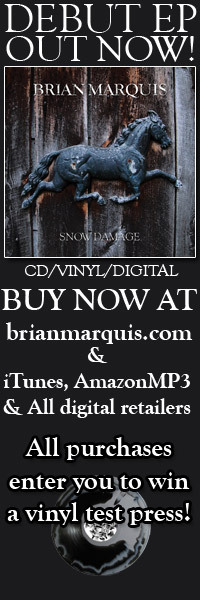 "My debut EP 'SNOW DAMAGE' is out TODAY! Stream it and buy on cd/vinyl/digital at http://www.brianmarquis.com or on iTunes here: http://tinyurl.com/snowdamageEP It is also available at all other digital retailers.   Review of the EP on Absolutepunk.net: http://absolutepunk.net/showthread.php?t=2519452  Studio video of the making of the EP: http://www.youtube.com/watch?v=baM1A1xjw9g  Press Release:  Snow Damage, singer/songwriter Brian Marquis' (Therefore I Am) debut six- song EP, released via Harbinger Music Group, is a heartfelt culmination of resilience, rebirth and renewal. The EP title, Snow Damage, metaphorically describes what is left when all the winter snow is melted away and the ground beneath is exposed, waiting for the rebirth of spring.  Similarly, on Snow Damage, Marquis documents a point in his life where he persevered over personal challenges, got to the core of his being and experienced a renewed optimism and passion for his music.  The debut EP features a well-rounded songwriting approach, from the loud and raucous ""They Used To Call It The Blues"" to the soft and vulnerable ""Body Work"".  Up and coming producer Brad Delava shared Marquis' vision to go back to his roots and make a piece of music that was not over-produced, showcasing his raw vocal talent. ""I went into the studio more prepared than ever; my attitude is, if I can't sing it, I won't."" says Marquis of his vocals on Snow Damage.  According to Alex DiVincenzo on absolutepunk.net, ""Marquis has always been a skilled guitarist and provided pleasant backing vocals in Therefore I Am, but I was unaware of the true finesse of his voice prior to hearing his solo material.""  In addition to vocals and guitar, Marquis also played harmonica, lap steel, percussion and piano on the EP.  Guest appearances on Snow Damage include Erick Serna (ex- The Dear Hunter), slide guitar on ""Ratt Street"", Shawn Marquis (Vanna), bass on ""The Way You Walk Away"" and Dan Bob Goterch (Actor